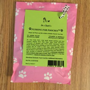 single pink bag of premium dog treat
